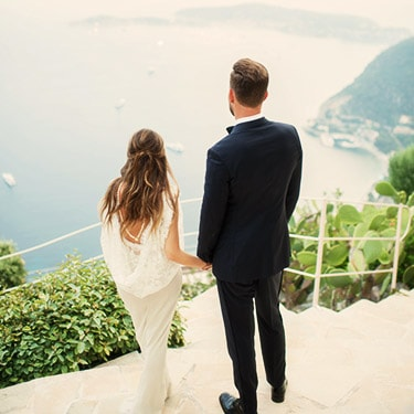 mariage sur la cote d'azur à l'hôtel à eze
