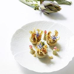 Artichauts caviar - Arnaud Faye - La Chèvre d'Or